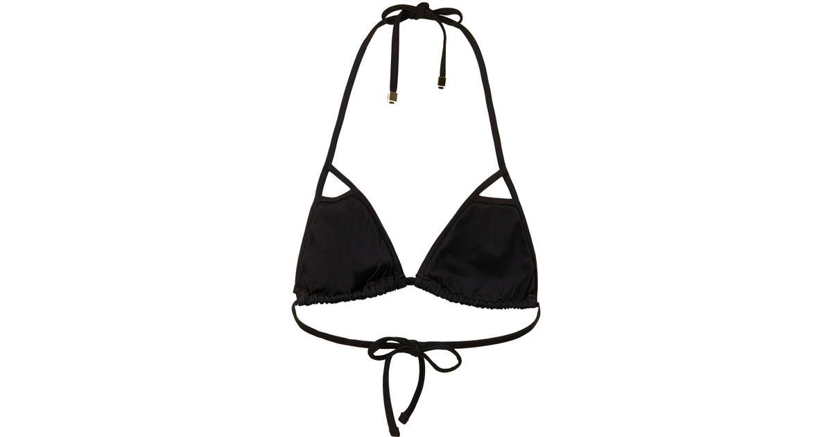 0ca620146d2c7 Lyst - TOPSHOP Black Cut Out Triangle Bikini in Black