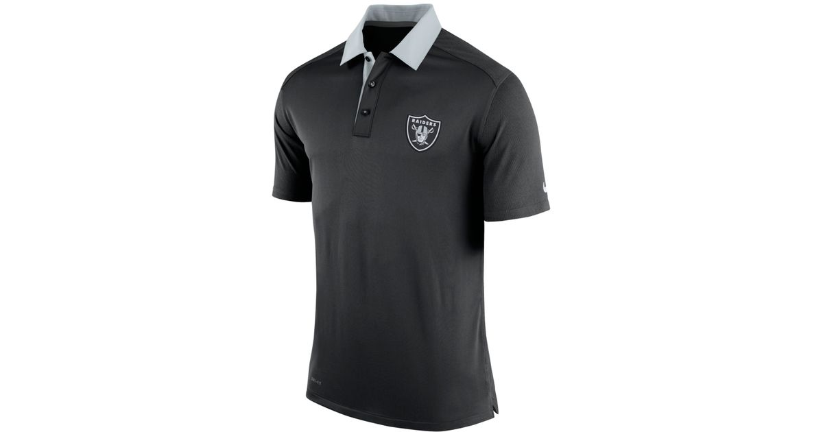 Nike Men 39 S Oakland Raiders Elite Coaches Polo In Black For