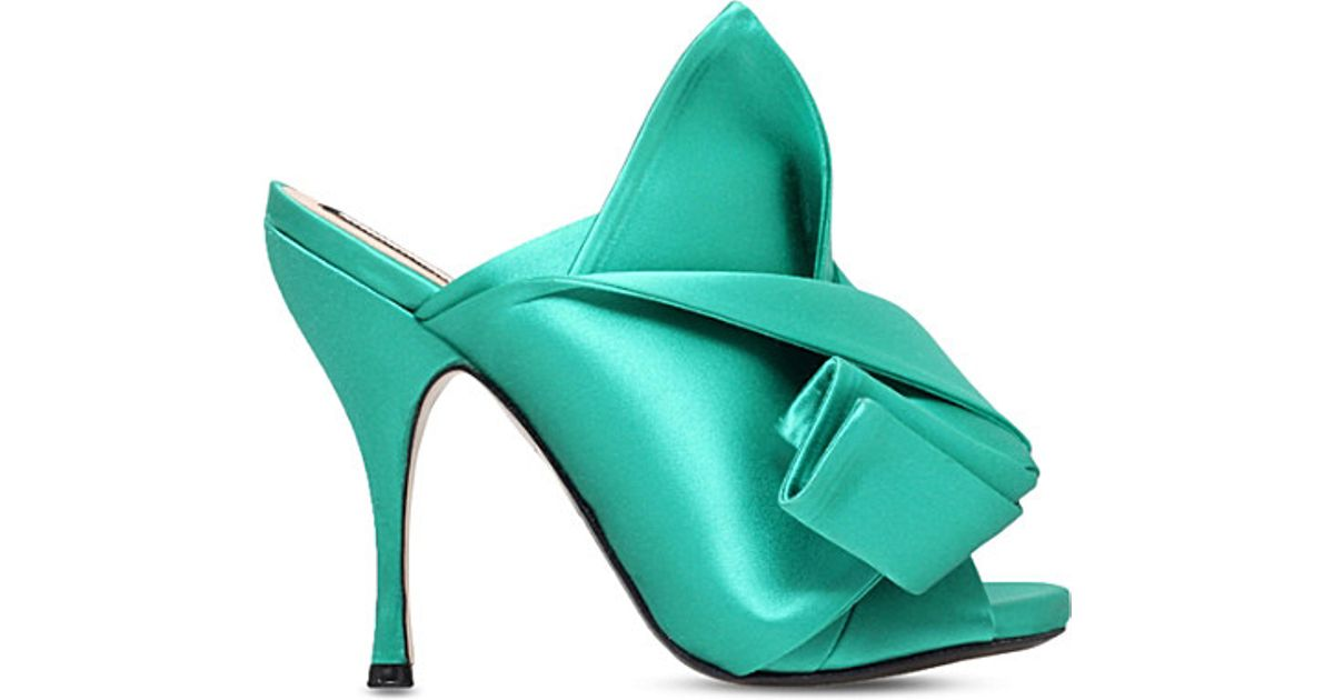 finest selection 5cfb1 8d6c7 no-21-green-bow-satin-heeled-mule-sandals-product-0-094042944-normal.jpeg
