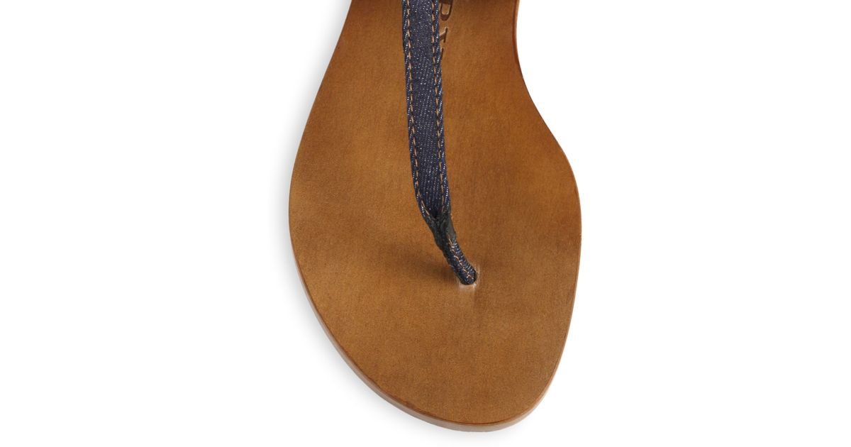 4701b70fd692ac Lyst - Burberry Kington Denim Thong Sandals in Blue