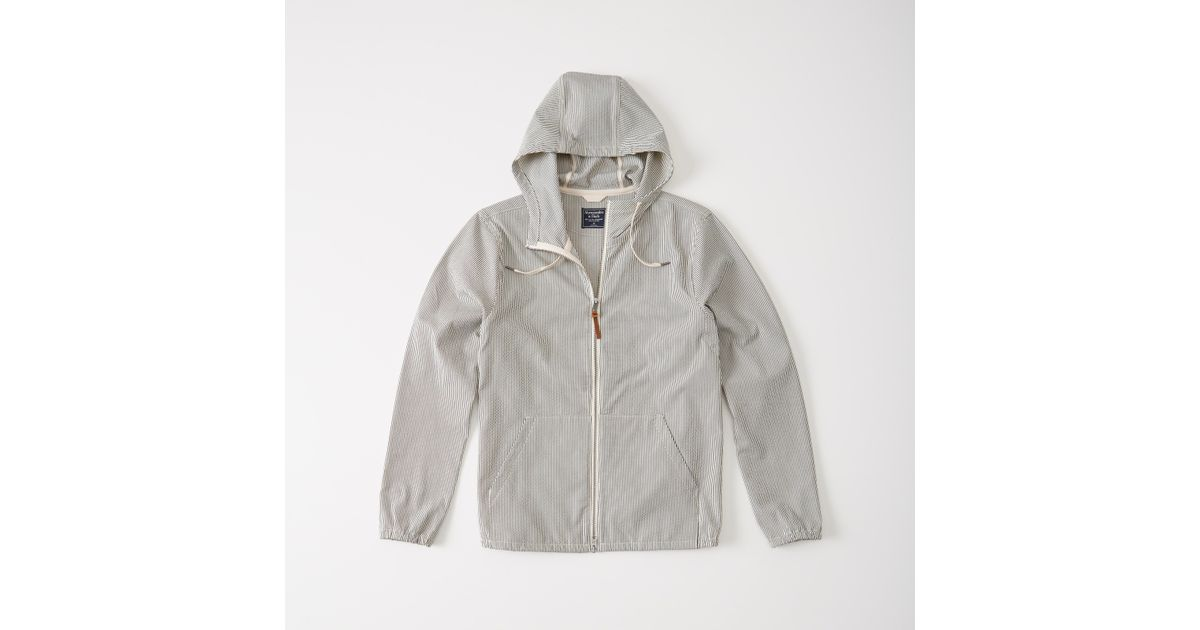 Abercrombie & Fitch Seersucker Windbreaker Jacket For Men