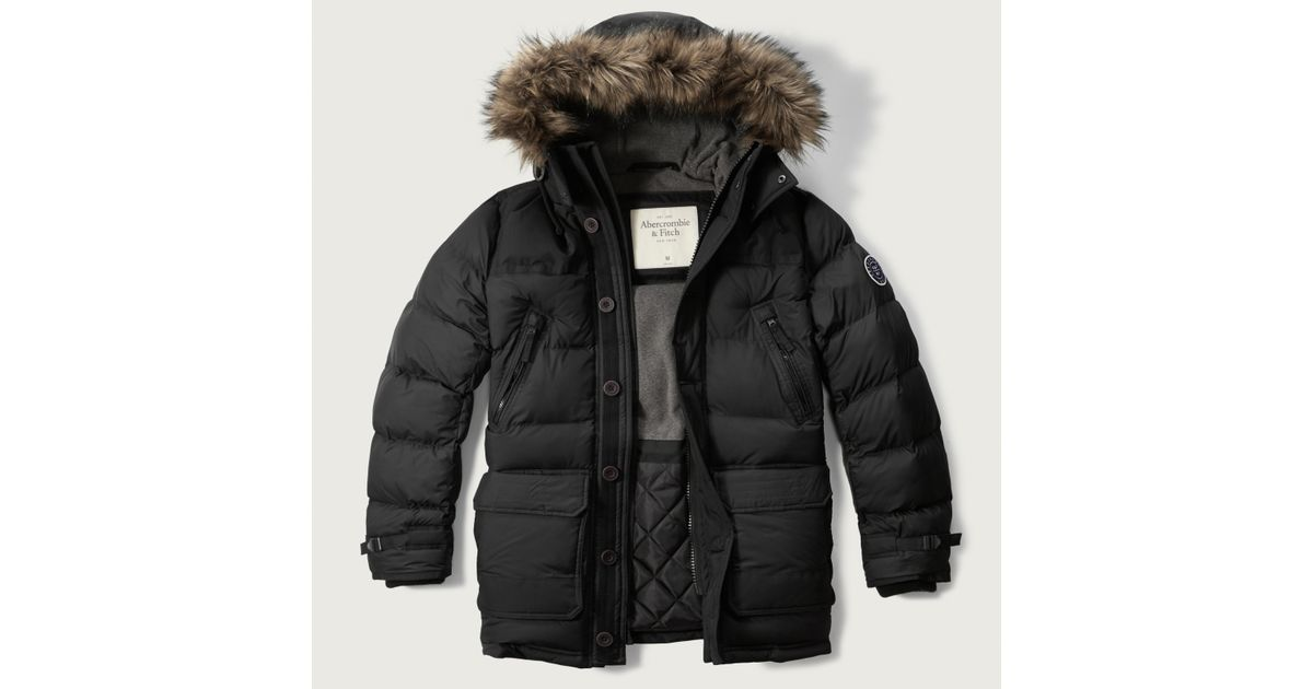 Abercrombie And Fitch Clothing Abercrombie And Fitch Hoodies Abercrombie And Fitch Jackets Abercrombie And Fitch Sweater: Abercrombie & Fitch Hooded Puffer Parka In Natural