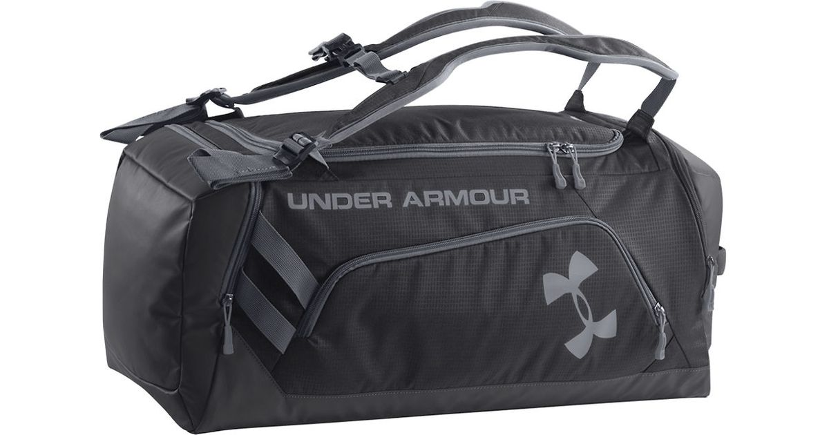 8fd99b54829 Under Armour Storm Contain Backpack Duffel Bag in Black for Men - Lyst