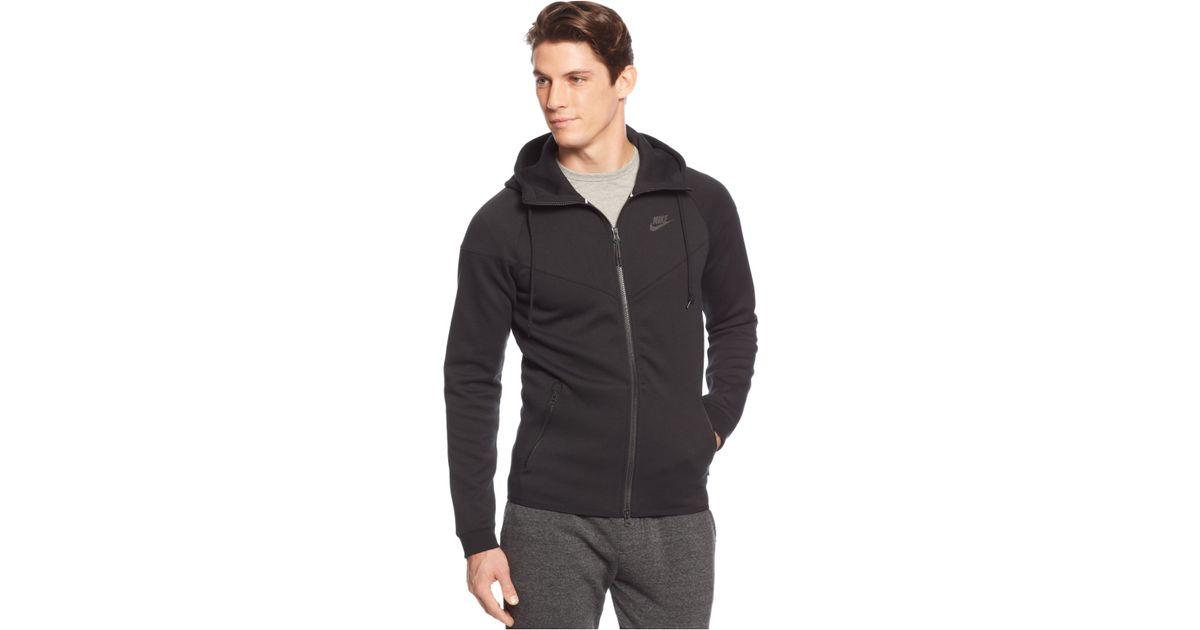 97812a112454 Lyst - Nike Men s Windrunner Fleece Performance Full-zip Hoodie in Black  for Men
