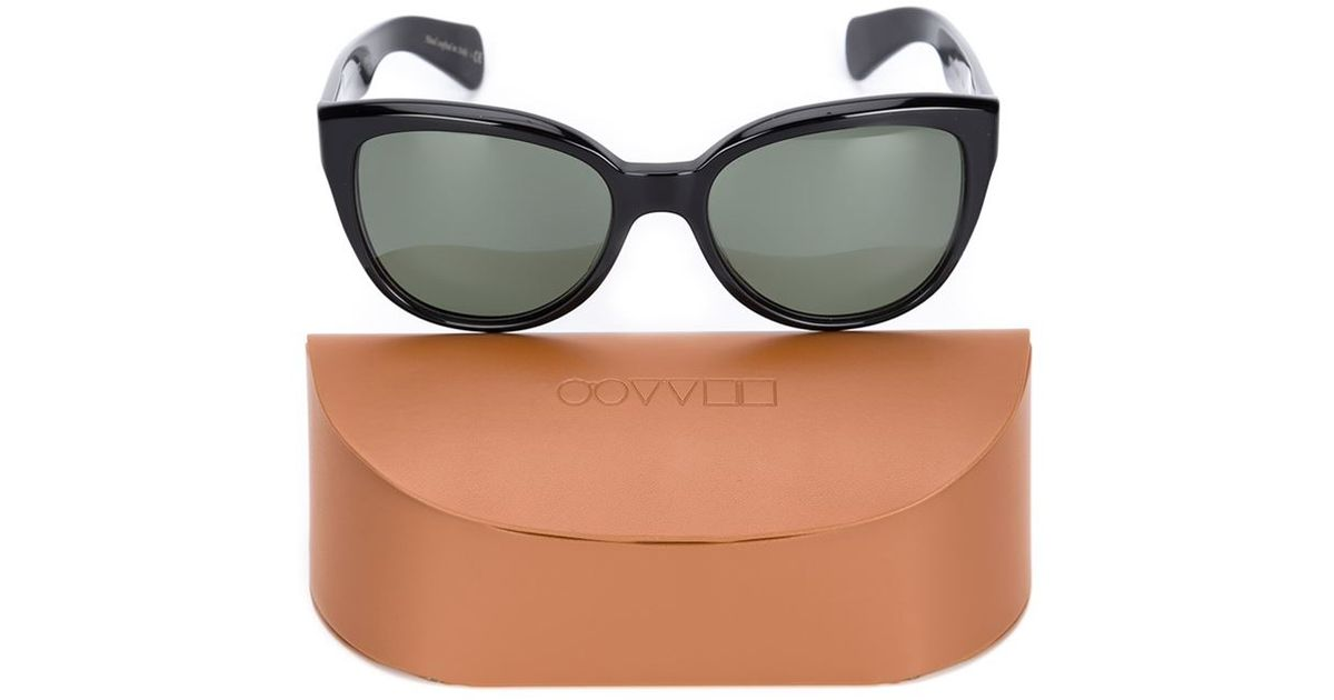 b260704a42 Oliver Peoples  mande  Sunglasses in Black - Lyst