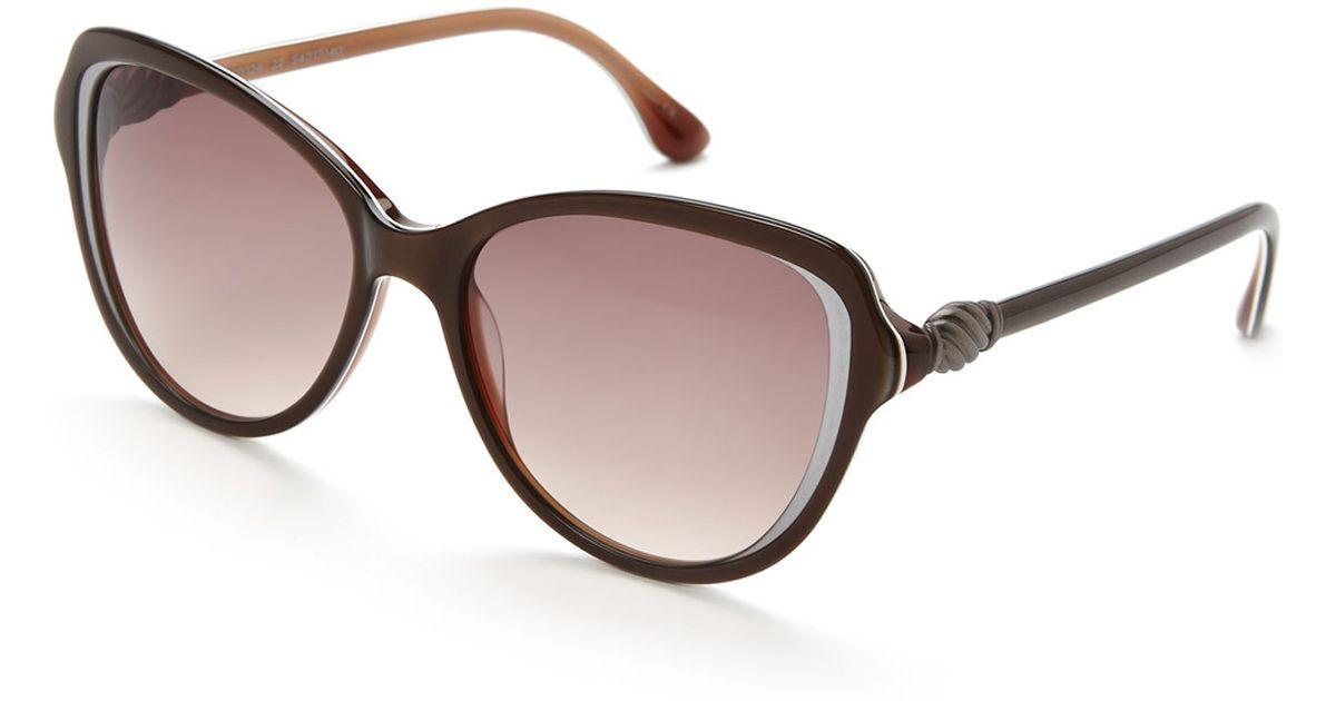 1804f50d09 Lyst david yurman brown cat eye sunglasses in brown jpeg 1200x630 David  yurman ladies prescription glasses