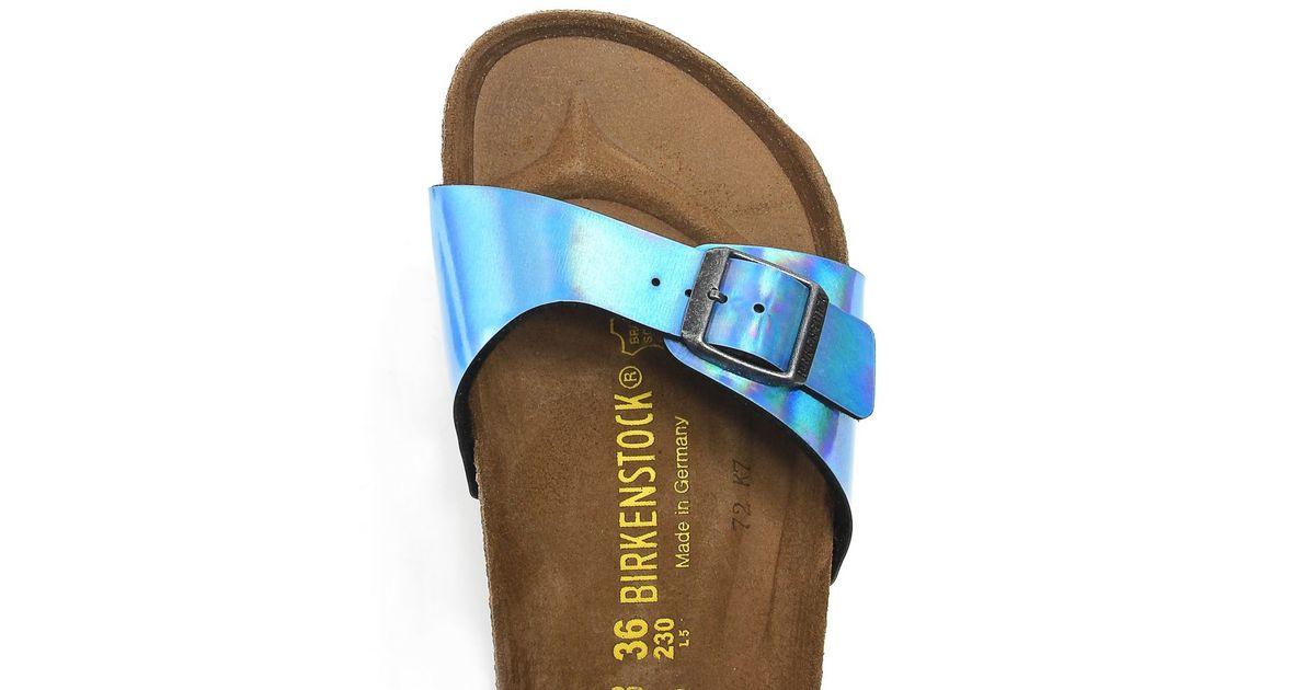 4696e04b7d7 Lyst - Birkenstock Madrid Mirror Sandals in Blue