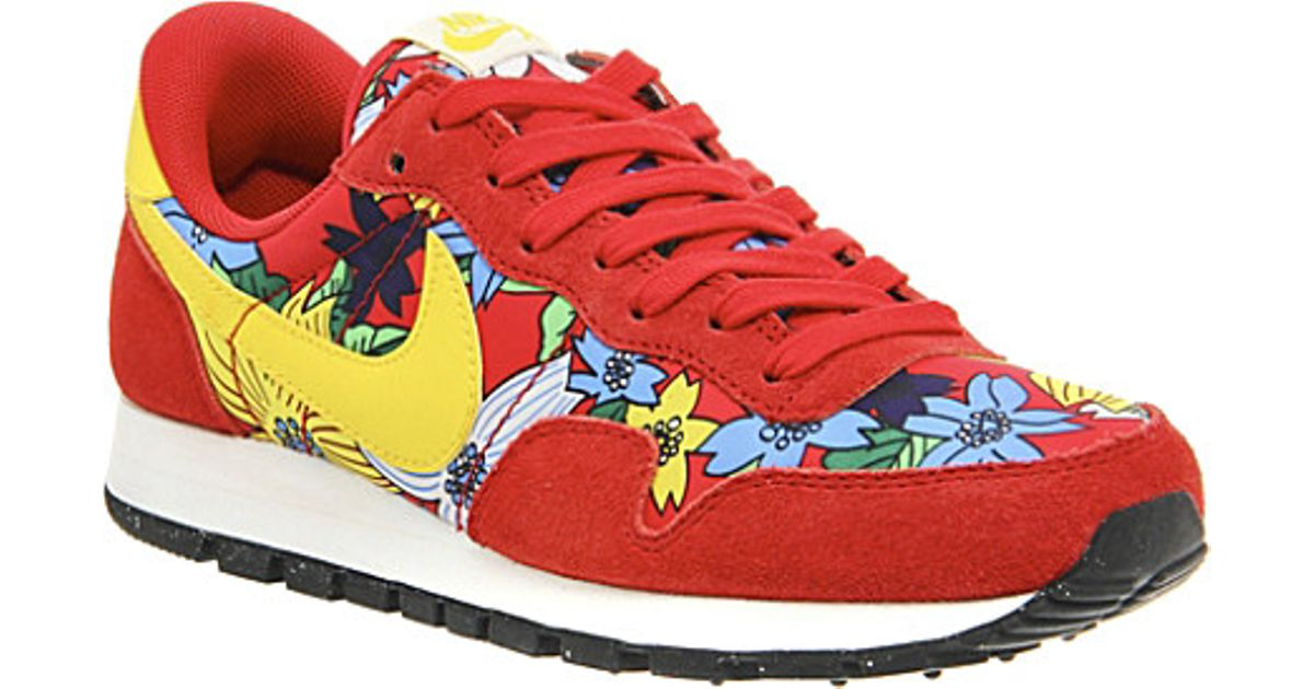 Nike Air Pegasus 83 Aloha Suede Trainers - For Women in Red - Lyst d6a307c746