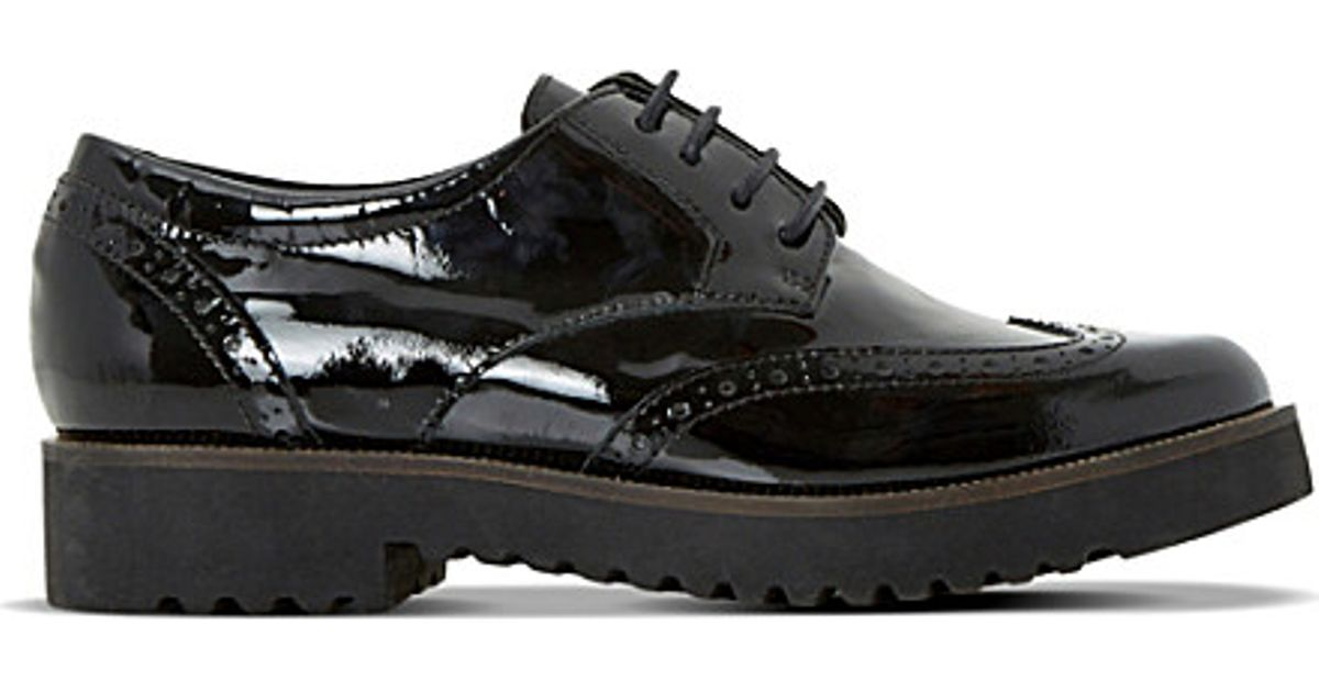 - A key look for the season – with androgynous styling crafted form patent black leather, Hamble Oak is the perfect brogue style shoe to add to your working wardrobe.