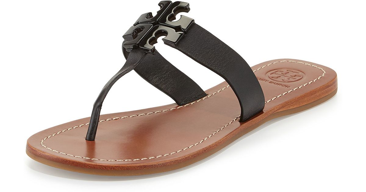 a87f3d555 Lyst - Tory Burch Moore 2 Leather Sandals in Black