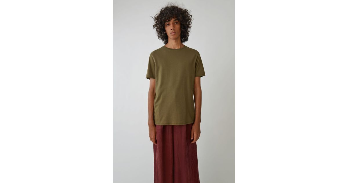 a2e895ae7 Acne Studios Basic T-shirt safari Green in Green for Men - Lyst