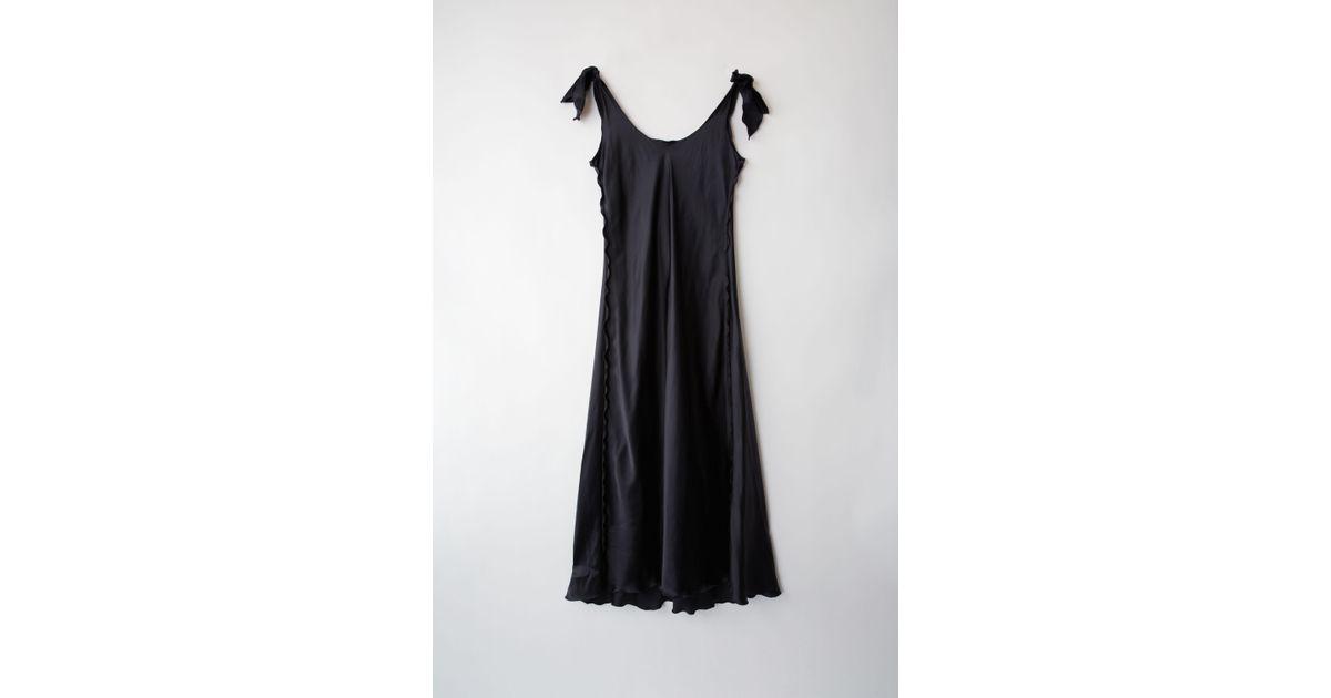 5d1fb134245 Acne Studios Fn-wn-dres000019 Navy blue Slip Dress in Blue - Lyst