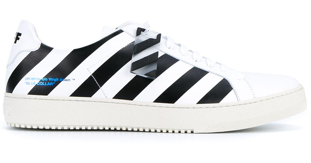 diagonal stripe print sneakers Off-white j8T4kCb