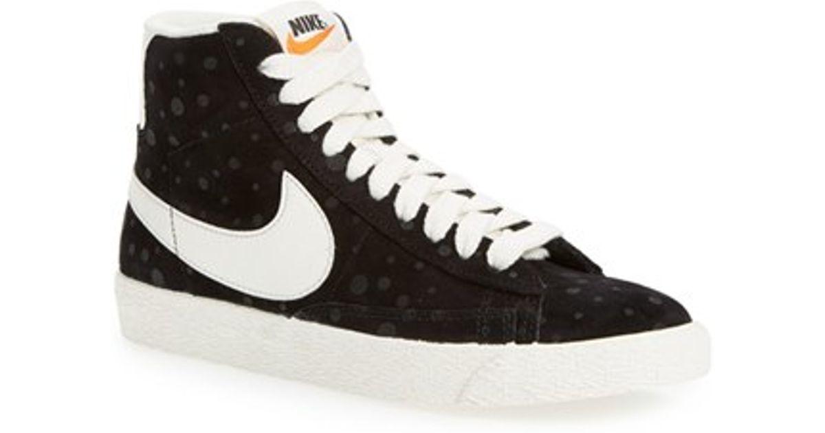 Lyst Nike Blazer Vintage High Top Basketball Sneaker In Black