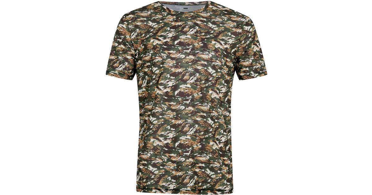Topman camo print t shirt in multicolor for men blue lyst for Camo print t shirt