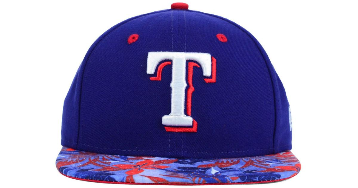 Lyst - KTZ Texas Rangers Floral Viz 9fifty Snapback Cap in Blue for Men 36d14ac38b2d