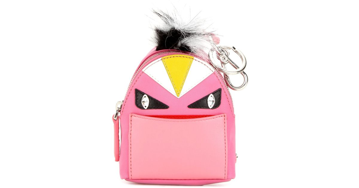 ffaf58a01288 Lyst - Fendi Bag Bugs Backpack Fur-trimmed Charm in Pink