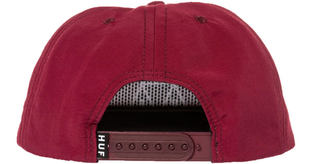 af5ad4fe729 Lyst - Huf The Triple Triangle Snapback Hat in Red for Men