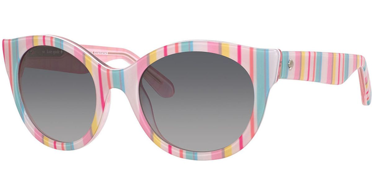 f1d071dabad2 Kate Spade Melly Cat-eye Plastic Sunglasses - Lyst
