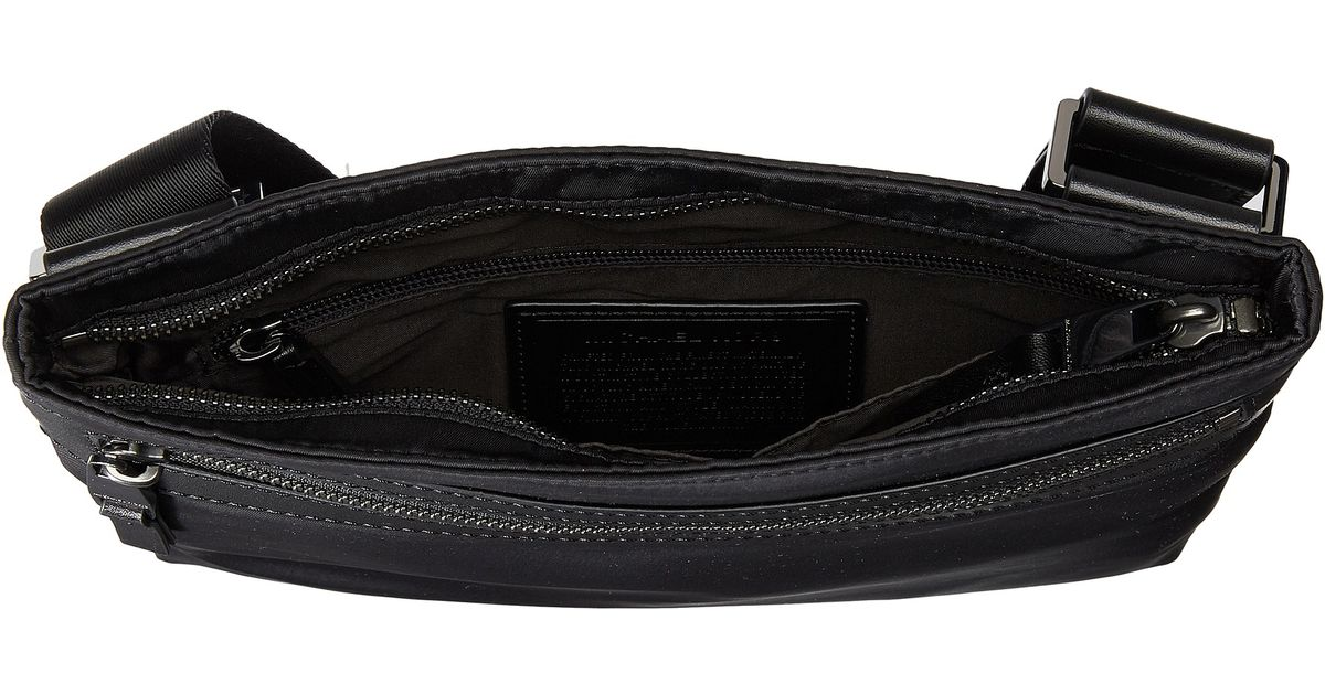 c0027b51cf78e Lyst - Michael Kors Kent Lightweight Nylon Small Flat Crossbody in Black  for Men