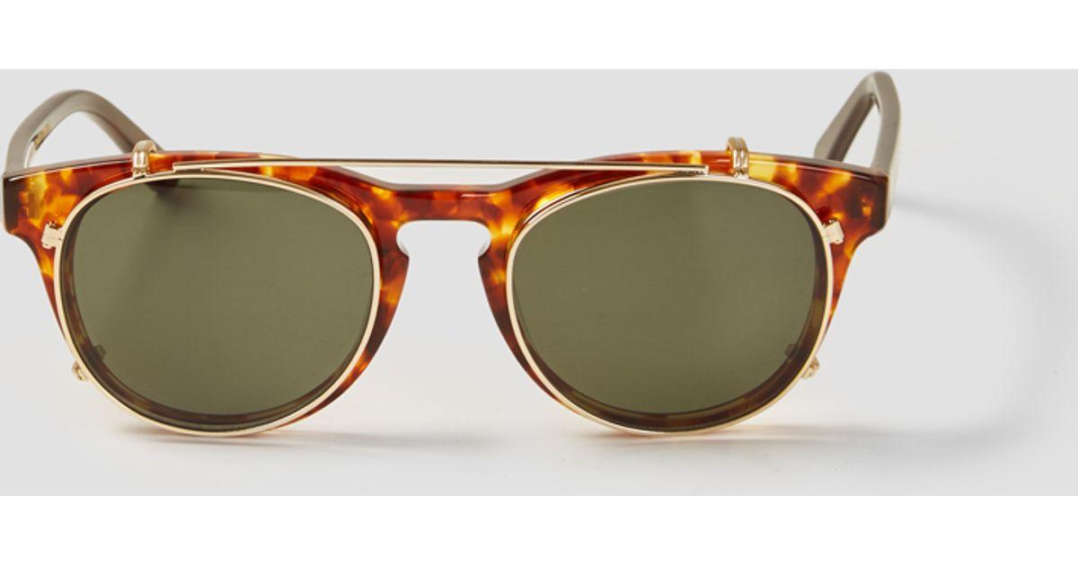 53a484c8a131 Han Kjobenhavn Acetate Clip-on Sunglasses in Brown for Men - Lyst