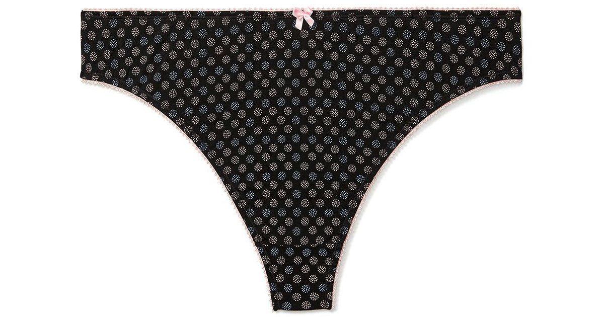 15af95cf4c43b Lyst - Addition Elle Printed Cotton Thong Panty - Ti Voglio in Black