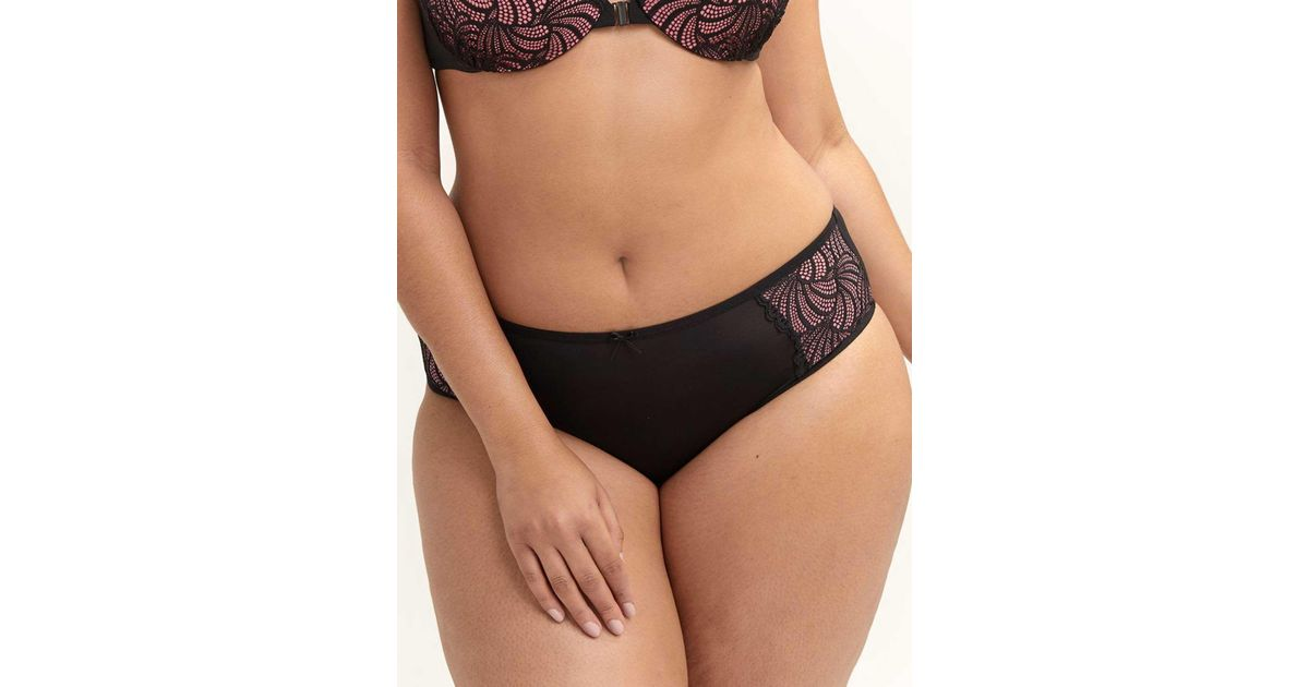 28743a616a1 Addition Elle Lace Embellished High Cut Panty - Ashley Graham in Black -  Lyst