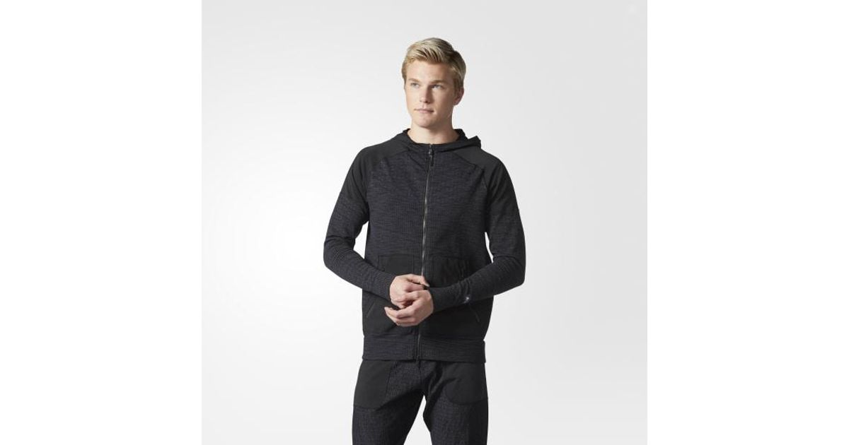 the best attitude 7fb88 aa35b Lyst - adidas Athletics X Reigning Champ Primeknit Hoodie in Black for Men