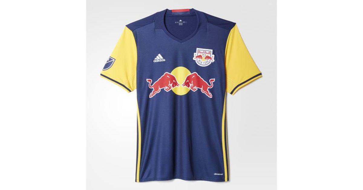 the best attitude c4394 aa583 Adidas - Blue Red Bulls Away Replica Jersey for Men - Lyst