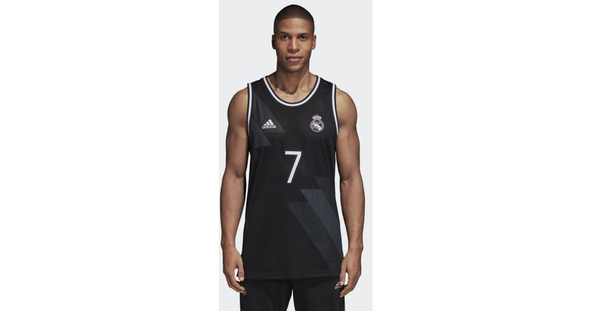 40a8ba7c540 adidas Real Madrid Seasonal Special Tank Top in Black for Men - Lyst