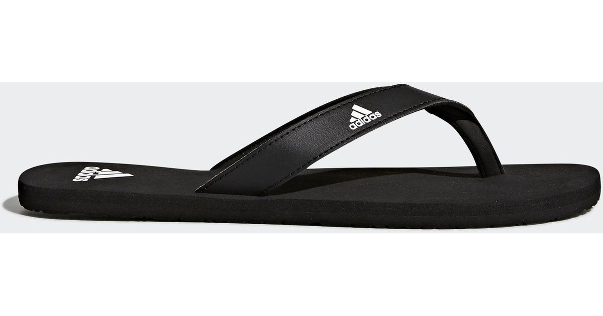 new products a0c10 83279 adidas Eezay Essence Thong Sandals in Black for Men - Lyst