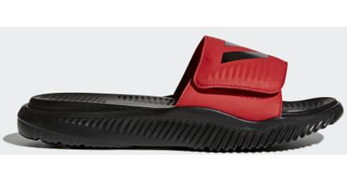 eecf7ea20f33c0 Lyst - adidas Alphabounce Basketball Slides in Red for Men