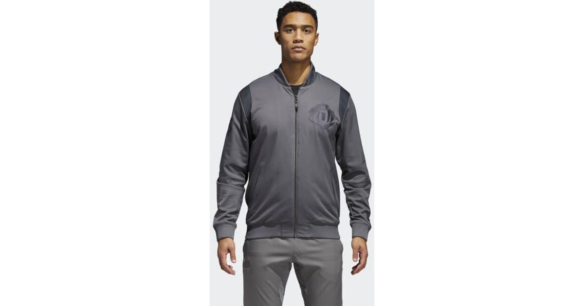 Lyst - adidas D Rose Collegiate Jacket in Gray for Men 5946d2fdd34a