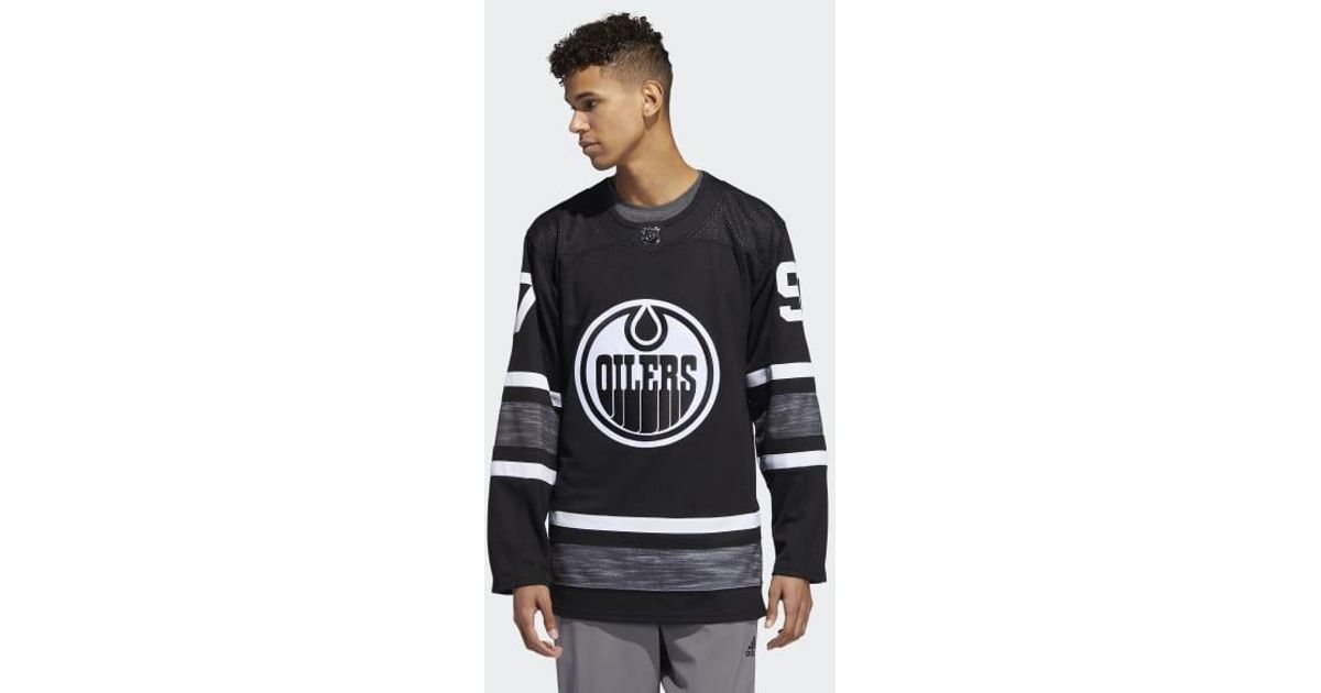 7e33e982e Lyst - adidas Oilers Mcdavid Parley All Star Authentic Jersey in Black for  Men
