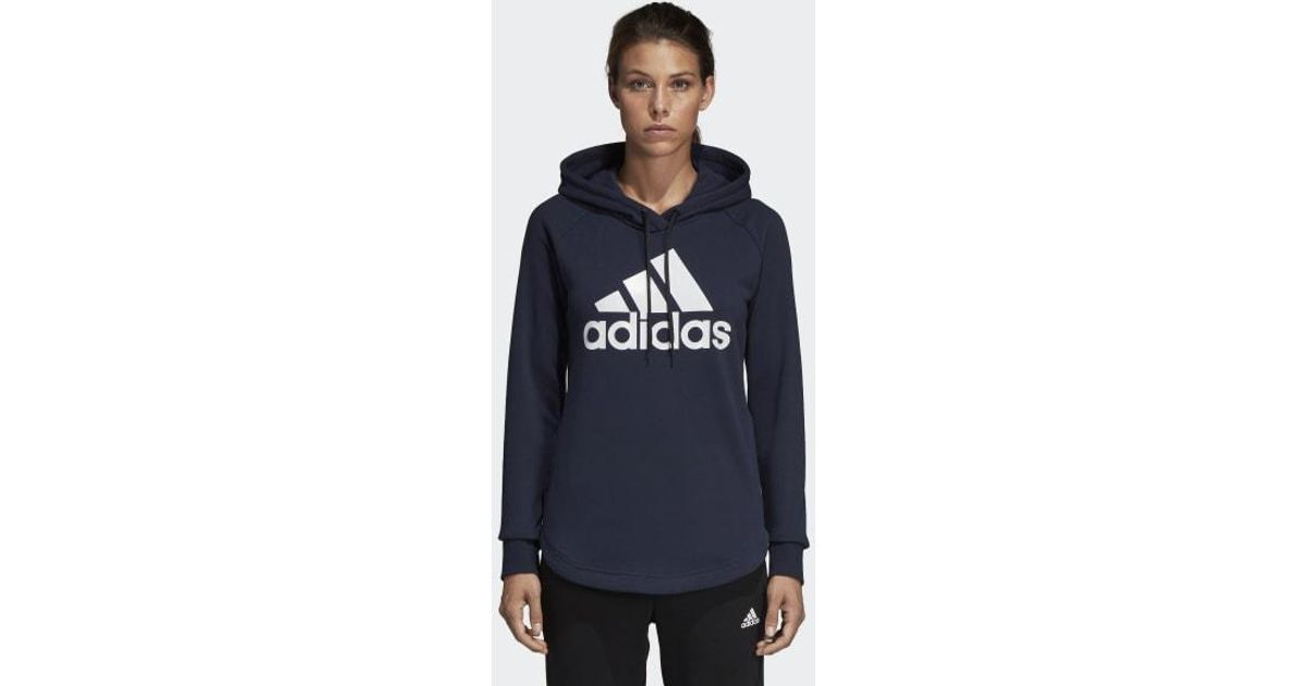 832f4a14e36 Lyst - adidas Must Haves Badge Of Sport Hoodie in Blue