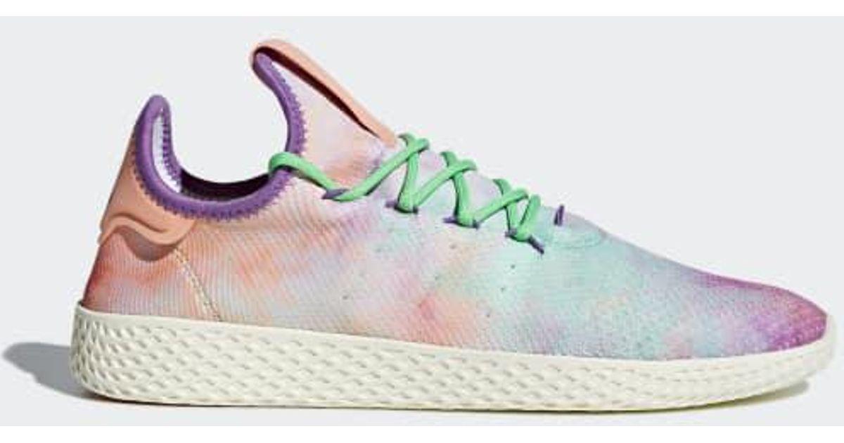 9b26a2dfeede3 Lyst - adidas Pharrell Williams Hu Holi Tennis Hu Mc Shoes in Orange