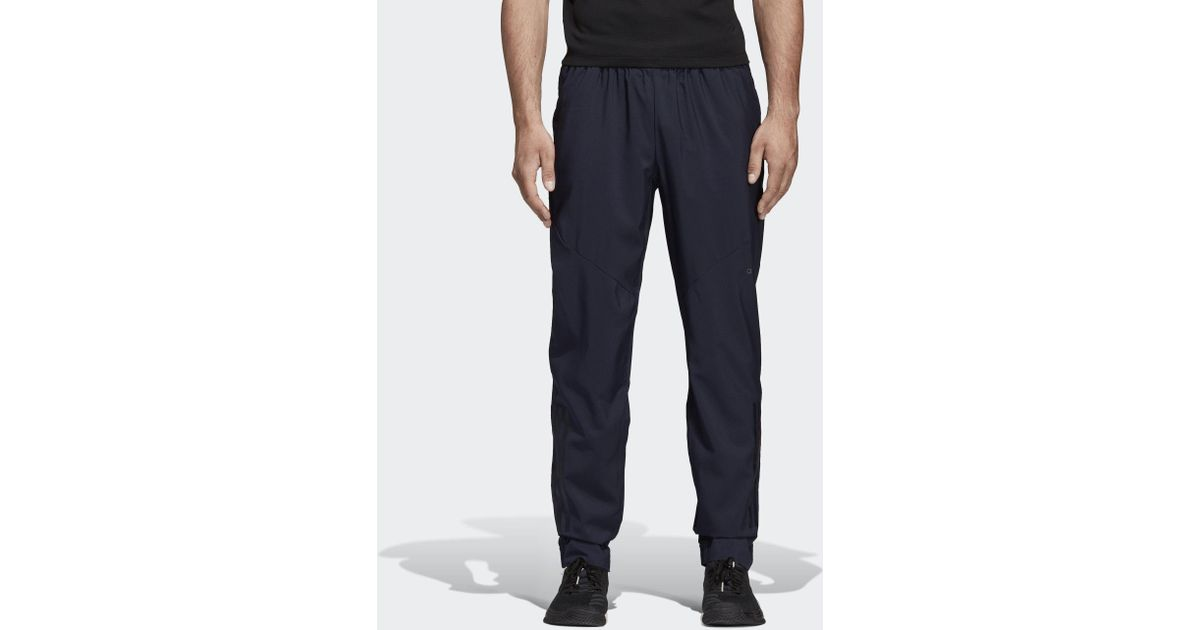 Adidas Blue Climacool Workout Pants for Men Lyst