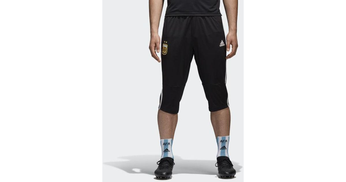30d602062 adidas Argentina 3/4 Pants in Black for Men - Lyst
