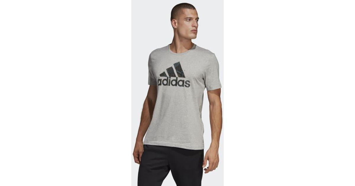 e3597973 Lyst - adidas Must Haves Badge Of Sport Graphic Tee in Gray for Men