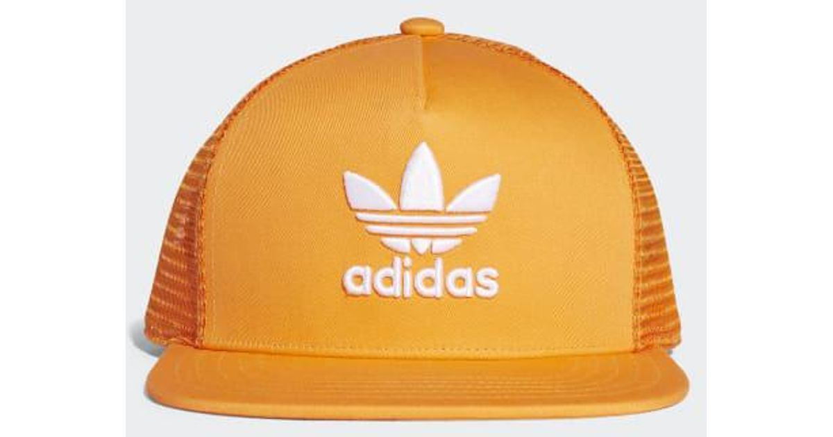 22faceda90c Lyst - adidas Trefoil Trucker Hat in Orange for Men
