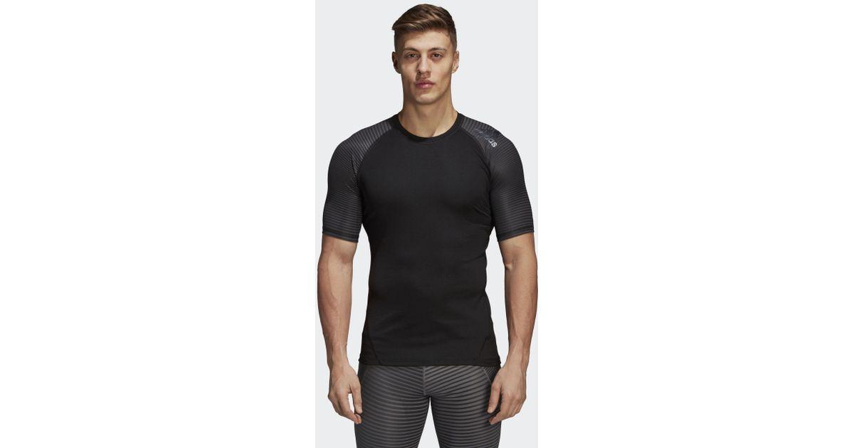 0de97ee87 adidas Alphaskin Sport Graphic Tee in Black for Men - Lyst