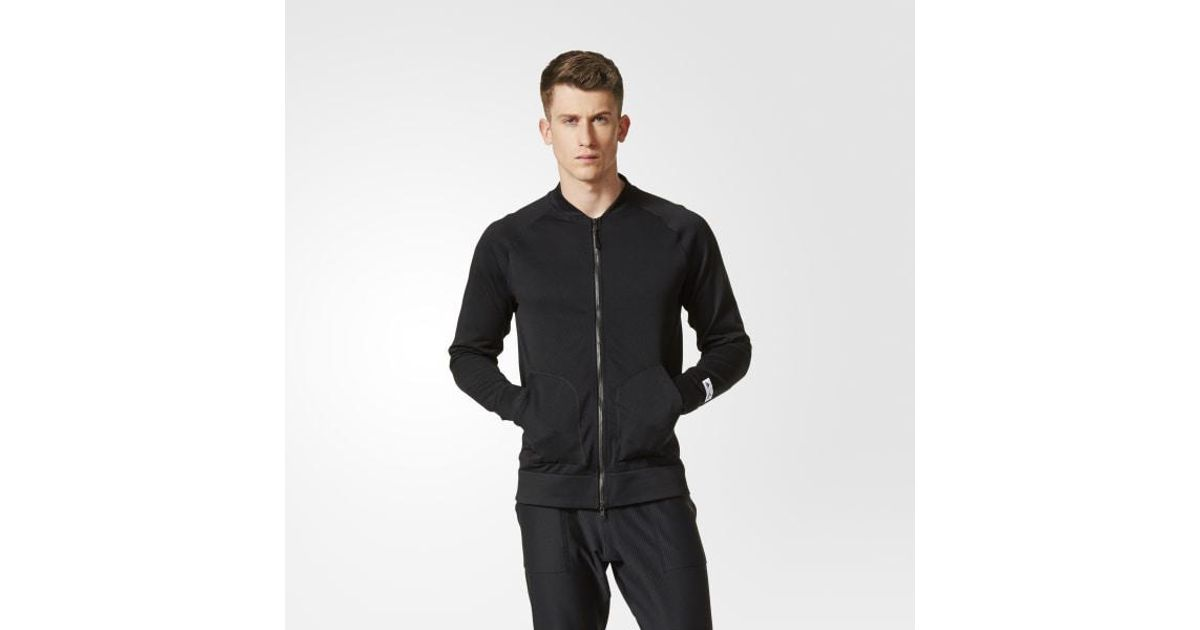 9ade31b806a4 Lyst - adidas Athletics X Reigning Champ Primeknit Bomber Jacket in Black  for Men