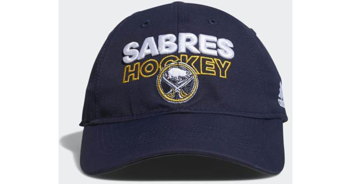 e141334e9f974d Lyst - adidas Sabres Adjustable Slouch Hat in Blue for Men