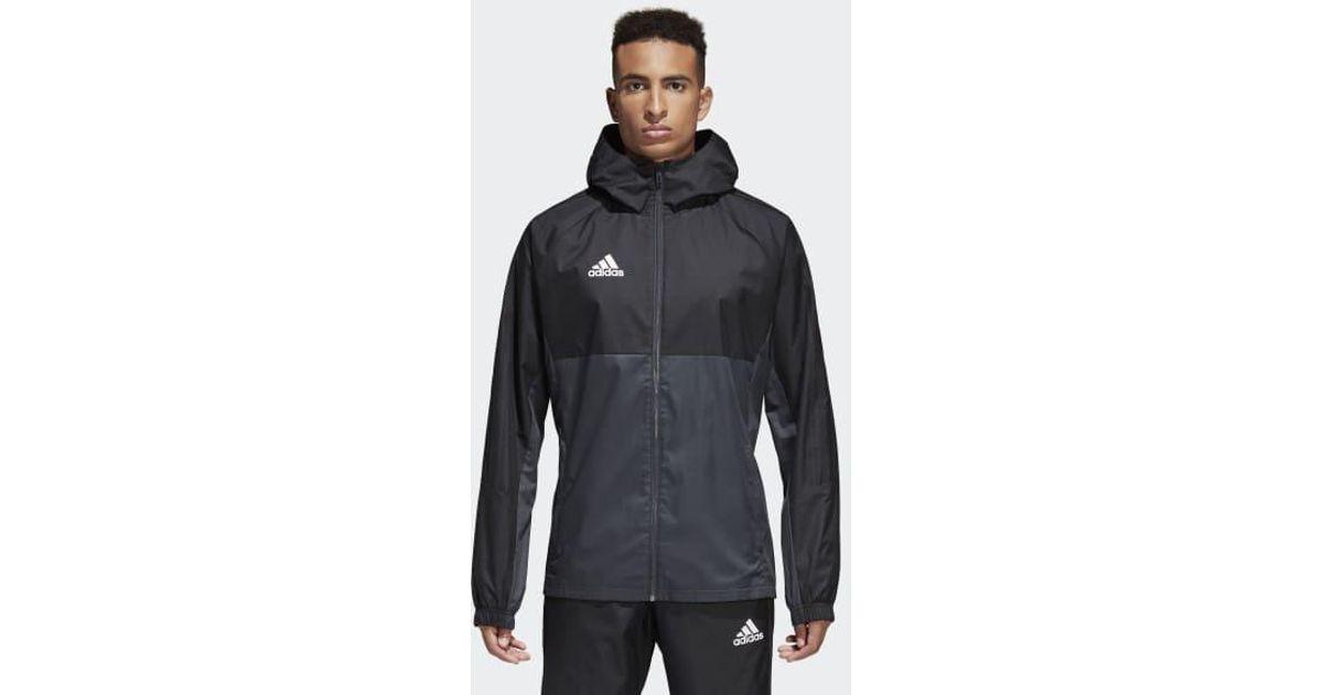 36070c564c9d Lyst - adidas Tiro 17 Rain Jacket in Black for Men