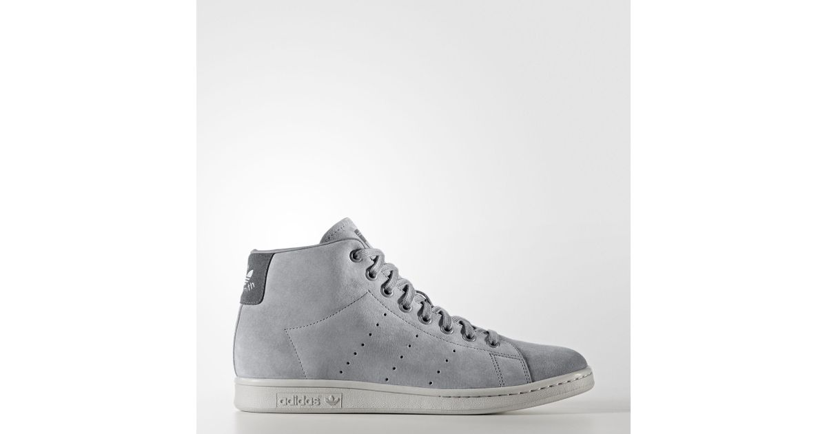 310b67ab951 Lyst - adidas Stan Smith Mid Shoes in Gray for Men