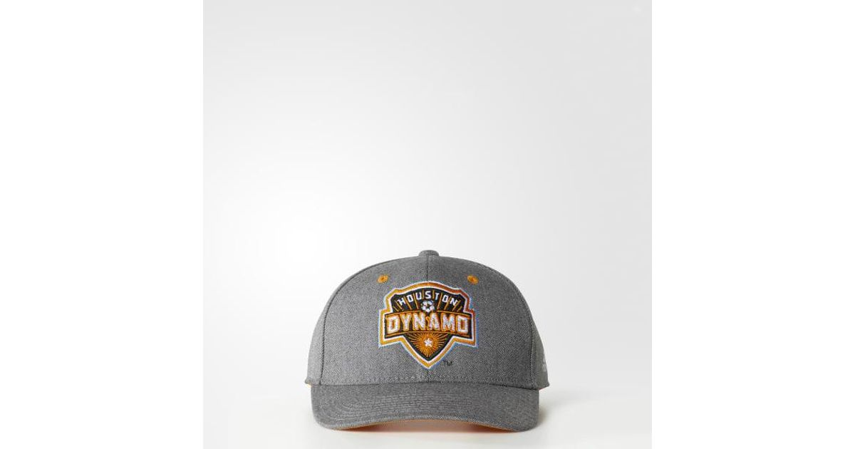 fad26d660bd Lyst - Adidas Houston Dynamo Structured Hat in Gray for Men