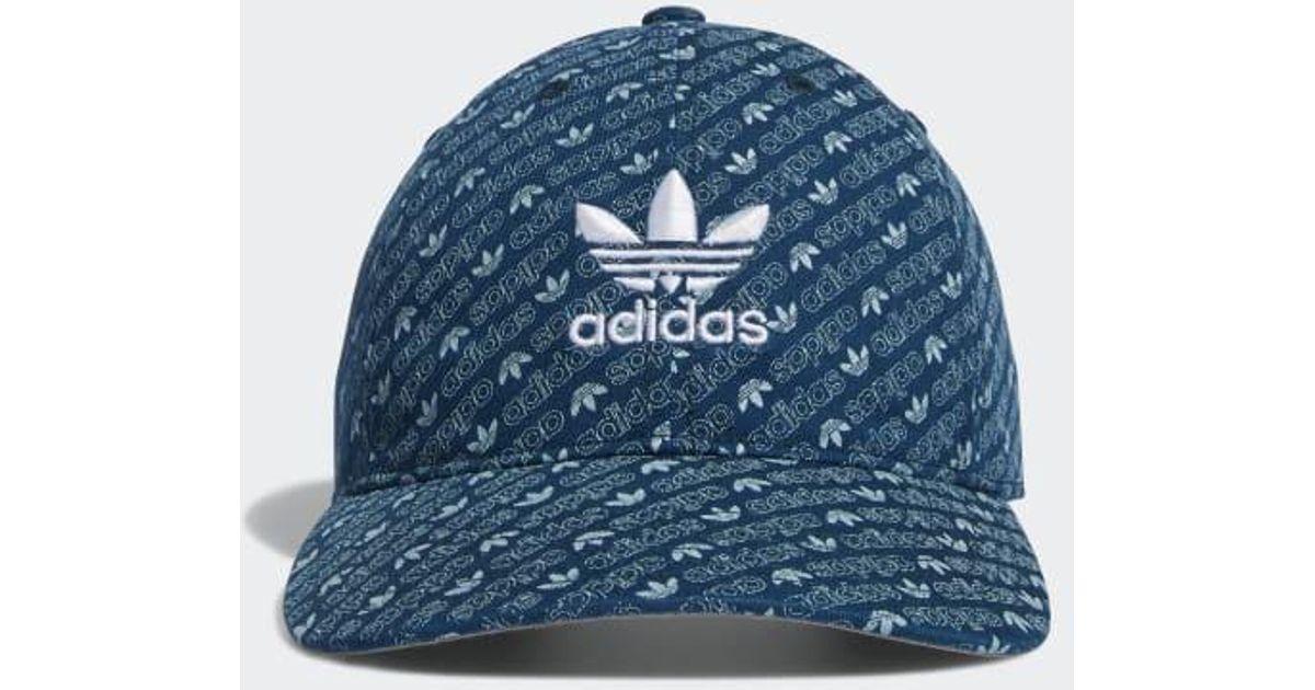 83a9f6ab6 Adidas - Blue Wm Originals Relaxed Strapback for Men - Lyst