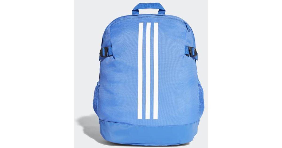 Lyst - adidas 3-stripes Power Backpack Medium in Blue f18eb219f5bb8