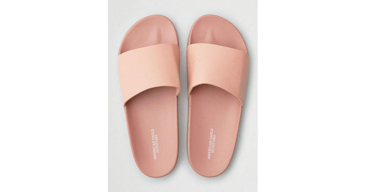 c50787bc3ee Lyst - American Eagle Solid Slide Sandal in Pink