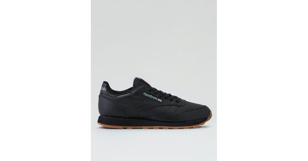 8c10190cb6e Lyst - American Eagle Reebok Classic Leather Sneaker in Black for Men